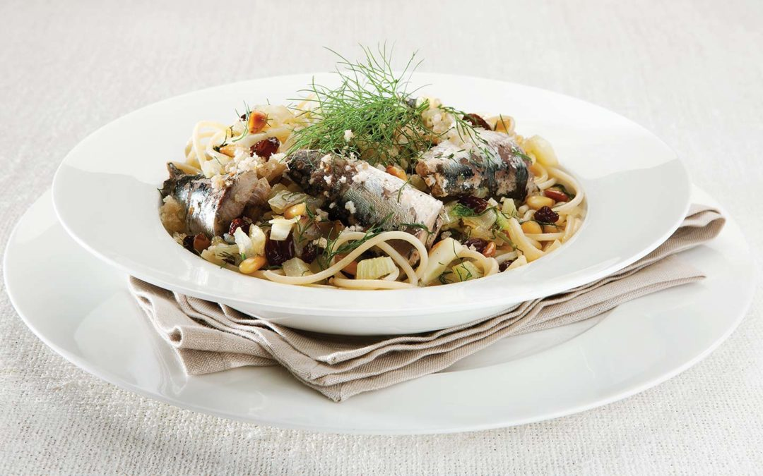 Sardines with Spaghetti
